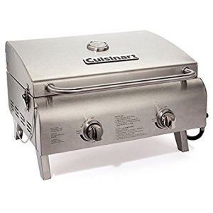 Top 20 Best Gas Grills 2017 – Buyers Guide and Reviews - Cuisinart's CGG-306 Chef's Style Stainless Tabletop Grill