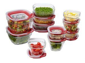 Best Glass Food Containers - Rubbermaid Easy Find Lids Glass Food Storage and Meal Prep Containers