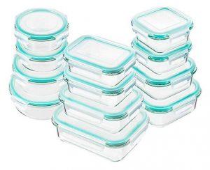 Best Glass Food Storage Containers - Bayco Glass Food Storage Containers with Lids