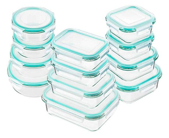 Best Glass Food Storage Containers - Bayco Glass Food Storage Containers with Lids