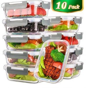 Best Glass Food Storage Containers - Mcirco Glass Meal Prep Containers