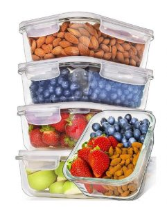 Best Glass Food Storage Containers - Prep Naturals Glass Meal Prep Containers