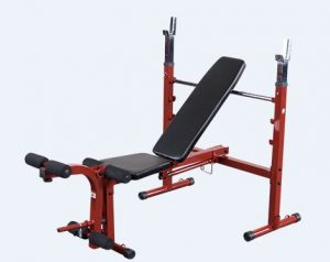 Body-Solid Adjustable Olympic Folding Weight Bench (BFOB10) - Best Folding Weight Bench for Home Gym
